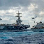 The USS Abraham Lincoln is currently leading a carrier battle group sailing toward the Persian Gulf. Click to enlarge