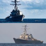 USS Gonzalez (top) and USS McFaul (bottm). Click to enlarge