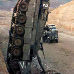 Wrecked IDF tank. Click to enlarge