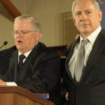 John Hagee Christians United for Israel with Netanyahu. Click to enlarge