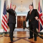 During a frantic 26 hours of meetings, Boris Johnson met all the key 'Trump Whisperers' but despite vigorously shaking hands with US Secretary Mike Pompeo and giving a thumbs-up to cameras, he was unable to change the US president's mind. Click to enlarge