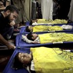 The Bakr boys, four brothershit by an Israeli airstrikewhile playing soccer in Gaza in 2014. Khalil Hamra   AP