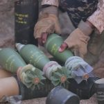 This still image taken from the Islamic State video in Yemen shows mortar shells 82 mm M74 HE lot 04/18 from the Serbian arms factory Krusik along with mortar shells from Bosnia and Herzegovina. Click to enlarge