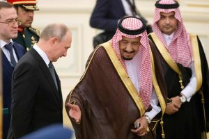 King Salman receives President Vladimir Putin, the Peacekeeper.Click to enlarge