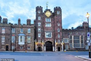 In total, the taxpayer pays for more than 100 Royal buildings (pictured, one of those funded by the state - St James's Palace in London,