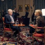 Prince Andrew pictured during his interview with Emily Maitlis. Click to enlarge