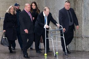 Harvey Weinstein pictured at with court recently with a walker. Is he a broken man? Or was this just an attempt to elicit sympathy from the court. A few days before he had been spotted moving around without the aid of a walker.