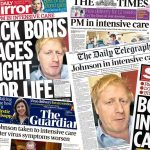 Headlines in the British press, Tuesday april 7, 2020. Click to enlarge