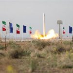 The IRGC's locally developed Qased (Courier) launch vehicle carrying the first Iranian military satellite into orbit. Click to enlarge