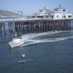 Man was arrested for breaking social distancing rules - by paddle boarding alone with nobody