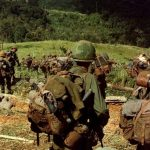"""""""Of the 543,000 American troops in Vietnam in 1968, only 14 percent (or 80,000) were combat troops. These 80,000 men took the brunt of the war. …In 1968, 14,592 men–18 percent of combat troops–were killed. An additional 35,000 had serious wounds that required hospitalization."""". Click to enlarge"""