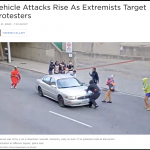 Archived photo of original article claiming an increase in 'right-wing extremist' vehicle attacks on protesters. Click to enlarge