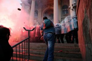 Serbian president backtracks on COVID-19 curfew after protests enter second day