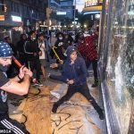 Looting in Manhatten amid protests over the death of George Floyd. Click to enlarge