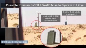 This image, taken from a distance from a passing vehicle, appears to show the S-400 or S-300 air defence system. Click to enlarge