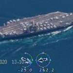 IRGC drones capture strikingly close footage of US strike group