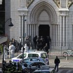 "Police described the scene inside the Notre-Dame basilica in Nice city centre as a ""vision of horror"". Click to enlarge"