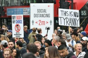 Thousands in London Anti-Lockdown Protest