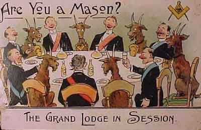 All masons have a goat whom controls them when need be. They are partnered with these beings