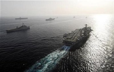 U.S. Fifth Fleet sailing in the Gulf May 22, 2007