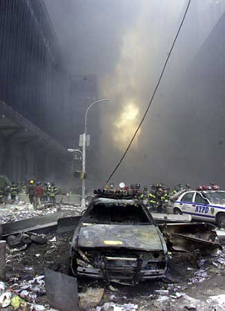 The aftermath of the September 11 attack