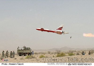 An Iranian Ababil drone is launched