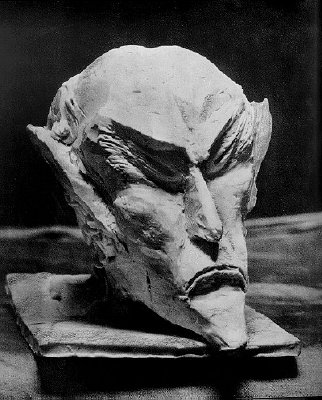 Ahriman's head carved by Steiner