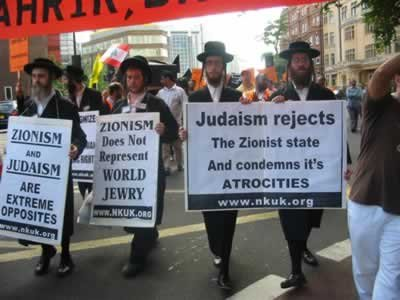 Anti-Zionist Jews protest against Israel's actions in London July 30.