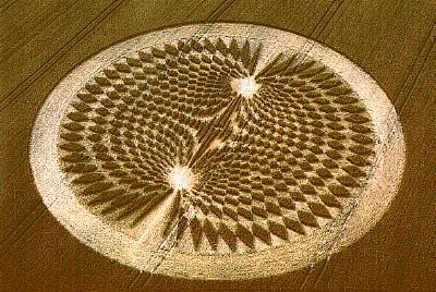 Crop circle that appeared at Avebury, in 2000, that Team Satan claimed to have made