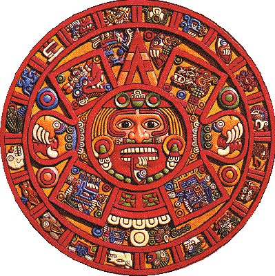 A modern depiction of the stone said to be carved under the watchfull eyes of the Feathered Serpent