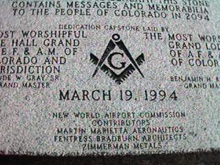 Dedication capstone at Denver International Airport, note the Masonic symbolism. And the fact that Denver, Colarado, stands as one highest altitudes in America. Coincidence? Or a deliberate move by those who know the shape of things to come?