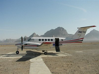 Mystery Beech on remote runway in Afghanistan