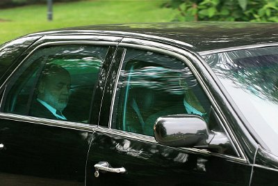 Federal Reserve Chairman Ben Bernanke photographed leaving the 2008 Bilderberg Conference.