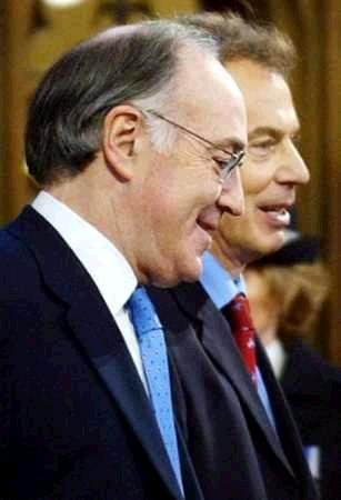 Blair and his possible successor, Michael Howard