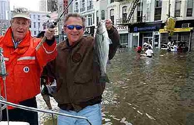 George Bush pictured on a working vacations in New Orleans recently.