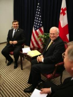 Cheney and Saakashvili