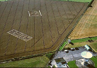 The crop circles that appeared next to the Chilbolton Radio Telescope