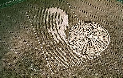 The crop circle that appeared near Winchester last August