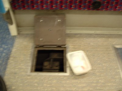 And then placed underneath the floor of the tube train.