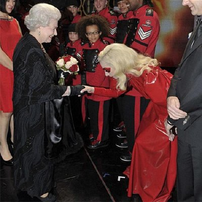 Lady Gaga meets Queen Elizabeth II