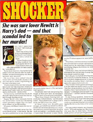 Di's DNA Shocker: Her Lover IS Harry's Father!
