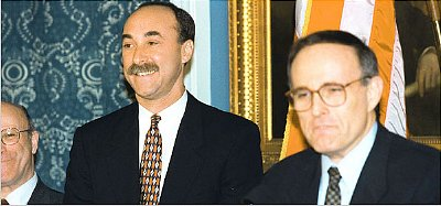 Mayor Rudolph W. Giuliani of New York appointed Jerome M. Hauer, left, to lead the newly created Office of Emergency Management in 1996