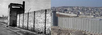 Modern Israel's Apartheid Wall (right)
