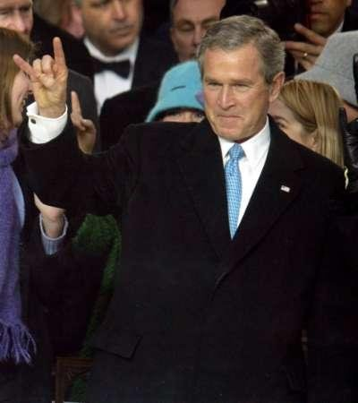 For those in the know, President Bush throws the same signal at his inaguration.