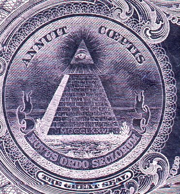 The all seeing eye on the U.S. Dollar Bill