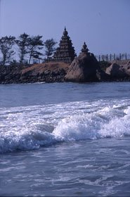 Temple on the shore of Mahabalipuram, near the submeged ruins