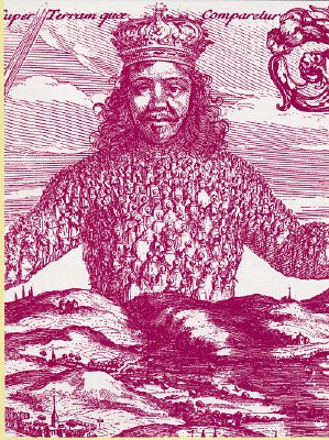 The engraved title page of the first edition of Thomas Hobbes 'Leviathan': a book that in many ways anticipated the New World Order