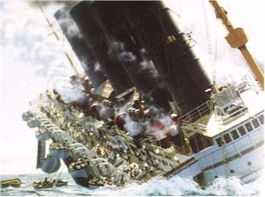 The Lusitania sinks