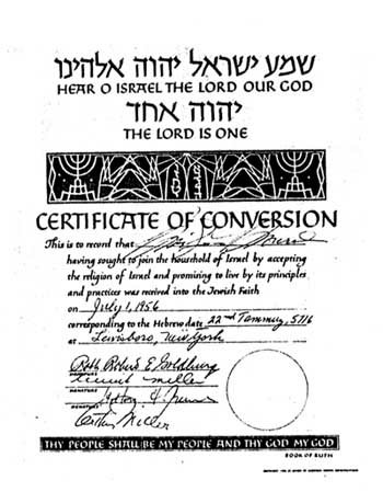 Monroe's certificate of conversion