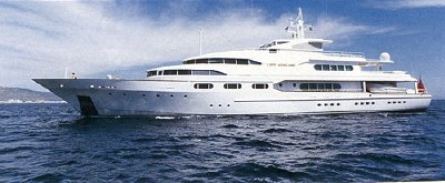 Maxwell's private yacht the Lady Ghislaine